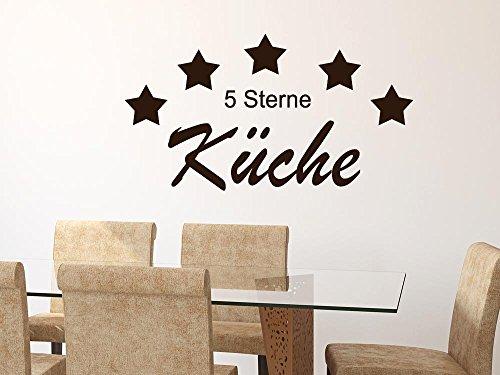 GRAZDesign Wandtattoo Küche Wandspruch, Küchendeko Dekorfolie Koch, Wandgestaltung Küche Chefkoch / 92x50cm / 091 Gold