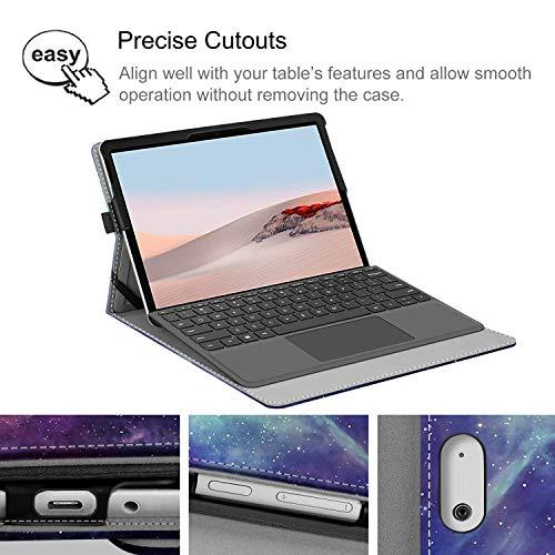 Fintie Hülle für Surface Go 2 2020 / Surface go 2018 10 Zoll Tablet - [Multi-Sichtwinkel] Hochwertige Kunstleder Schutzhülle Cover Case mit Dokumentschlitze, Type Cover kompatibel, Die Galaxie