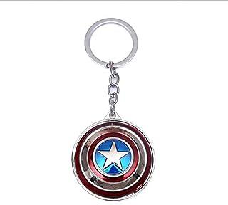 VNFLY Captain America Keychain, Shield Keychain, Captain America Spinning Shield Keychain Shield Keyring (Rotative Version)