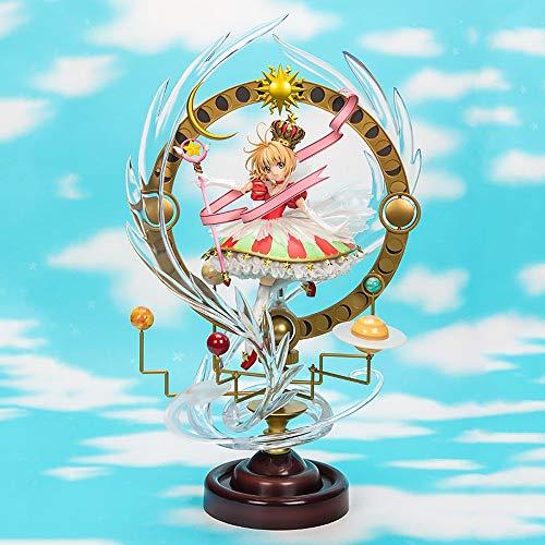 Lupovin Japanische Anime 44CM 15th Anniversary Card Captor Sakura Kinomoto Sakura Sterne Bless You Big Statue PVC Action-Figur Modell Spielzeug