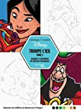 Coloriages mystères Disney trompe l'oeil tome 2 - Coloriez et découvrez un nouveau personnage