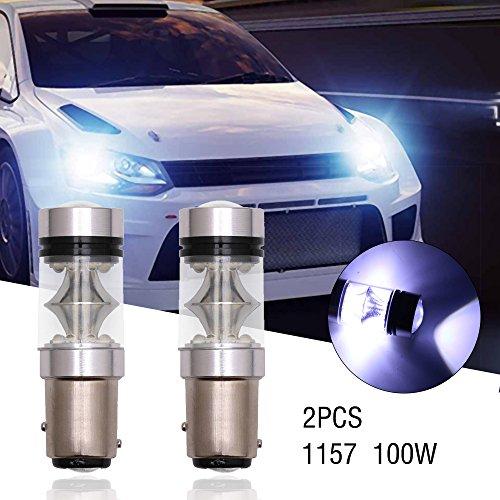 2PC Super Bright 1157 2828smd 100 W LED de voiture DRL Feu de brouillard Phare Lampe Blanc