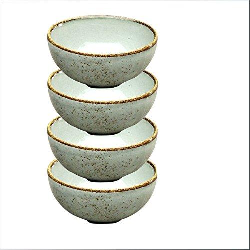 Dipschale 4er Set |Schälchen | Dessertschale NATURE COLLECTION | Steinzeug | Grau - STONE | Ø 11,5 cm