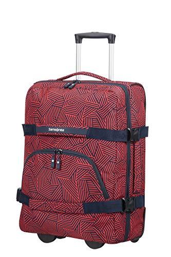 Samsonite Rewind Borsone con Ruote S, 55 cm, 45 L, Rosso (Capri Red Stripes)