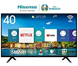 HISENSE H40BE5500 TV LED Full HD, Natural Colour Enhancer, Quad Core, Smart TV VIDAA U, Crystal Clear Sound, Tuner DVB-T2/S2 HEVC, Wi-Fi