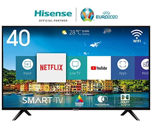 "Hisense H40BE5500 Smart TV LED FULL HD 40"", USB Media Player, Tuner DVB-T2/S2 HEVC Main10 [Esclusiva Amazon - 2019]"