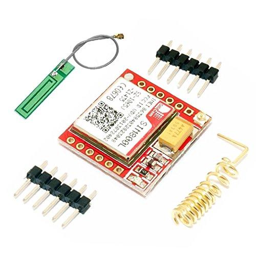 ARCELI Kleinster SIM800L GPRS GSM Breakout-Modul Quad-Band 850/900/1800 / 1900MHz SIM-Kartensteckplatz an Bord mit Antenne 3,7~4,2 V