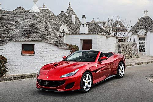 """XOTIKS Ferrari Portofino – Premium High Gloss Art Print Poster. (323P) (24""""x36"""")"""