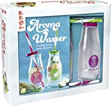 Kreativ-Set Aroma-Wasser: Buch mit Grundlagen und 24 Rezepten sowie zwei Glasflaschen mit Deckeln und Strohhalmen (Buch plus Material)