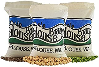 Non-GMO Project Verified Garbanzo Beans, Lentils and Green Split Peas (9 total LBS)   100% USA Grown   Identity Preserved (We Tell You Which Field We Grew It In