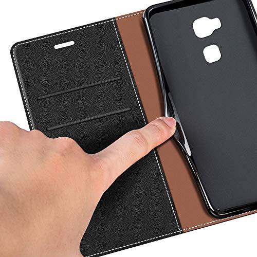 Handyhülle für Honor 5X Handy Hülle, Honor 5X Hülle Leder Handytasche für Huawei Honor 5X Klapphülle Tasche, Schwarz - 4