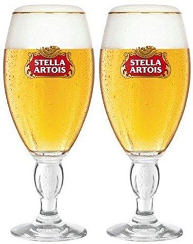 Stella Artois Calice - Set di 2 bicchieri da birra in vetro da 283,5 g