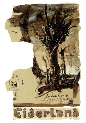 Horst Janssen Eiderland Poster Plakat Kunstdruck