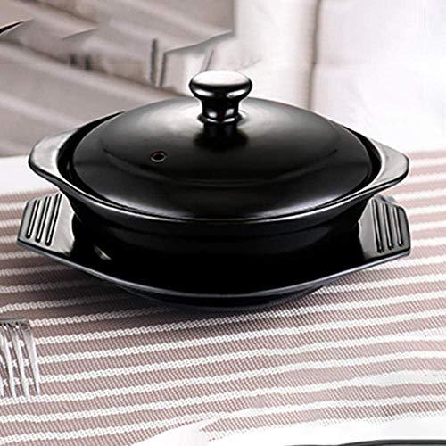 ZJZ Keramiktöpfe zum Kochen von holländischem Ofen Terrakotta-Eintopf-schnelles Erhitzen, Wärmespeicherung und Energiesparen 0,77 l