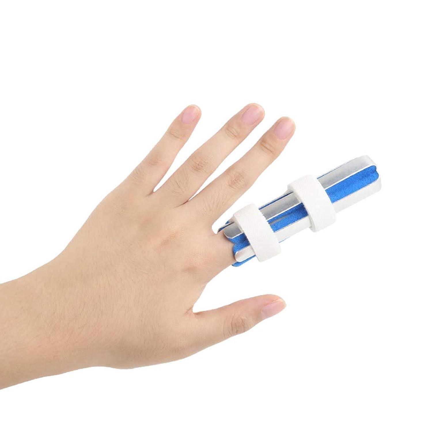 スキップ学習者チャーム指骨折固定副木 - 保護指のカップリング装具脱臼の痛み指のけがの痛み保護指関節,S