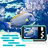 Waterproof Camera Full HD 1080P Underwater Camera 24 MP Video Recorder Selfie Dual Screen DV Recording 16X Digital Zoom Waterproof Digital Camera for Snorkeling