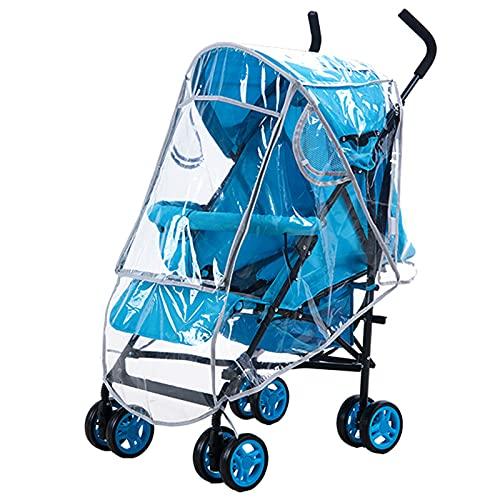Universal Regenschutz für Kinderwagen, Transparent Kinderwagen Regenschutz Baby Reise Wind Schnee Abdeckung Langlebig Wetterschutz