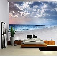 3D壁紙ポスタービーチシービューカスタム大規模な壁紙の壁紙3Dテレビの背景リビングルームの写真の壁紙3Dルームの壁紙-140X100cm(55 x 39インチ)