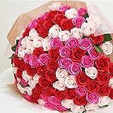 お好きな本数 ソープフラワー花束 ピンクミックス(r) 50本 ブーケ 誕生日 記念日 お祝い 結婚 退職 送別 卒業 入学 造花 ギフト サプライズ パーティー