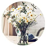 Artfen 10pcs Artificial Daisy Flowers Flower Arrangements for Home Hotel Office Wedding Party Garden Craft Art Decor Each Approx 21' High No Vase White