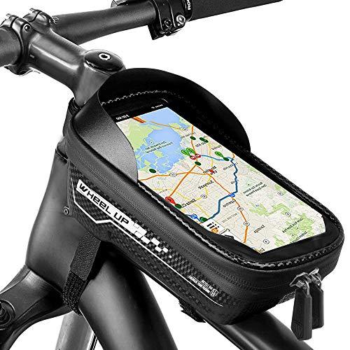 Eyscoco Rahmentasche,Wasserdichter Fahrradtasche Fahrrad Handyhalterung mit TPU-Touchscreen und Kopfhörerloch,TPU Touchschirm von 6.5 Zoll(Color 3)