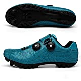 CHANGAN Elite SPD MTB Cycling Shoes for Men Women Ideal for Mountain, Cyclo Cross Country XC Bikes in Included Blue-42