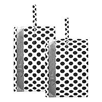 YZX 黒い水玉模様 トラベル シューズケース 便利 グッズ シューズバッグ トラベルポーチ 旅行 インバッグ 収納 ポーチ 靴 靴入れ シューズ入れ アウトドア スポーツ ジム 学校