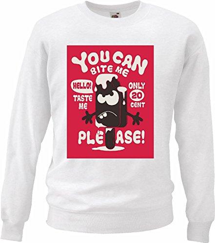 Sweatshirts, kunnen bijten ME Gusto ME Solo 20 CENTAVOS per Favor ijs chocolade pallets zacht dieet voor het verfijnen van calorieën figuur IMC-vocht dik dun figuur