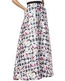 Kay Unger New York Womens Mikado Printed One Shoulder Evening Dress B/W 12