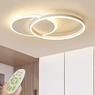Lámpara de techo LED Lámpara de sala de estar regulable moderna Lámpara de techo de diseño con control remoto Lámpara de techo de moda Minimalista Iluminación de acrílico de metal Dormitorio Cocina Co