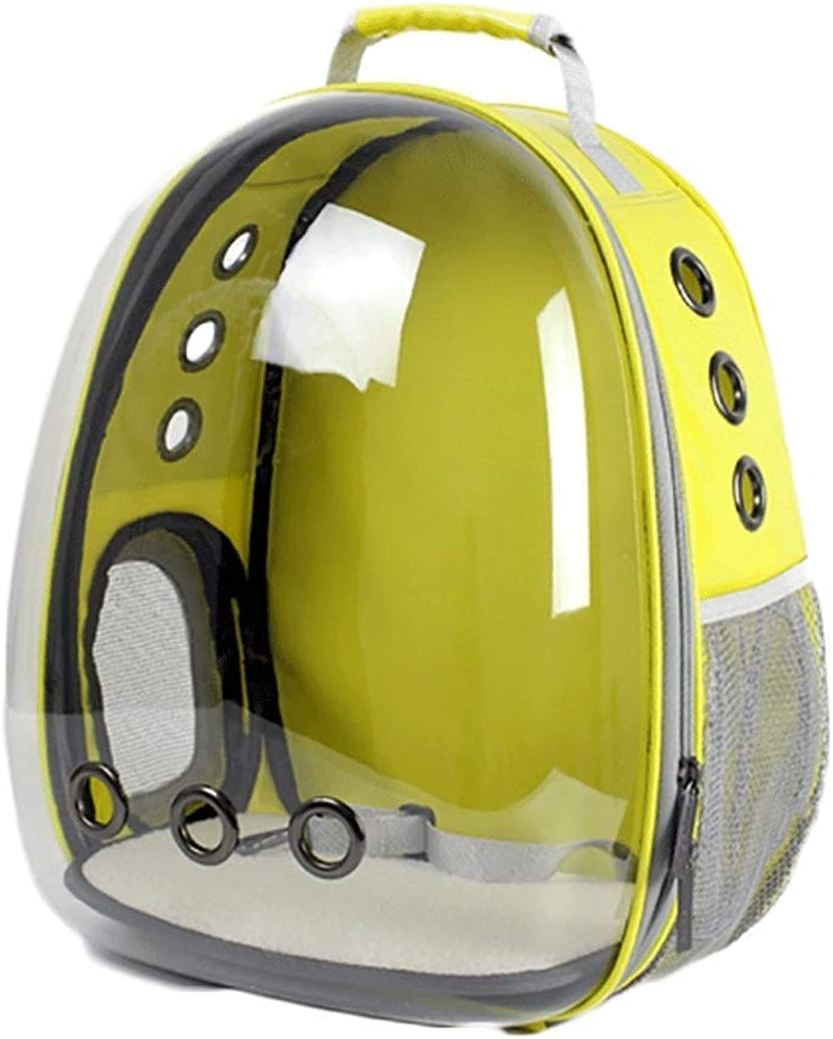 BTPDIAN Panoramic Space Pet Transparent Backpack Cat Dog Chest Bag (color   Yellow)