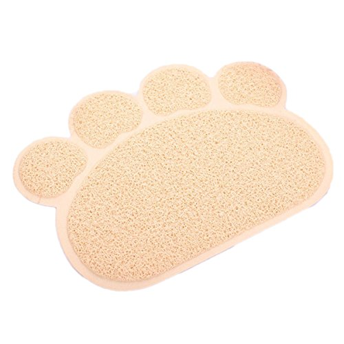Kingcoo Tappetino impermeabile elastico in PVC, a forma di zampa di gatto, toilette per gatti e cani, 45x 60cm