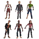 BYTERT Zombie Dolls Static Models Figures Toys, 6 Pcs Zombie Action Figures Terror Corpse Cake Topper Halloween Decoration 10cm/3.94 inches