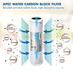APEC Water Systems Filter-Set US Made Double Capacity Replacement Stage 1-3 for Ultimate Series Reverse Osmosis System… 14 APEC ULTIMATE high capacity pre-filter set is USA made and built to last 2x longer than other brands 1st stage polypropylene sediment filter to remove dust, particles, and rust 2nd & 3rd stage extruded carbon block filters to remove chlorine, taste & odor