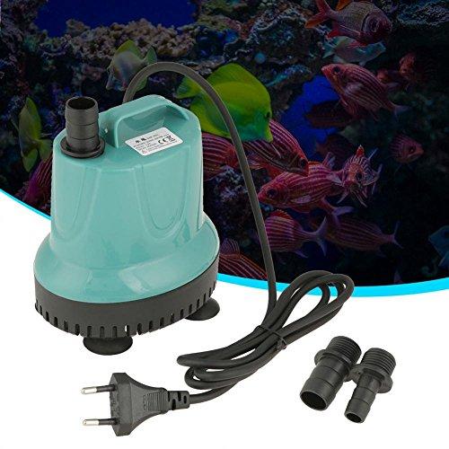 Filfeel Tauchpumpe, Wasserpumpe Kunststoff 2000L / H Aquarium Gartenteichpumpe Garten Teich Wasser Pumpe Blau(SM-25L)