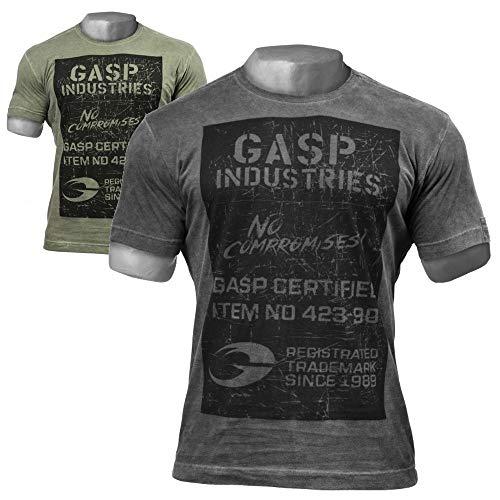 GASP Broad Street Print Tee - Fitness und Workout T-Shirt, Größe:XXL, Farbe:schwarz