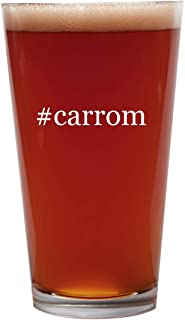 #carrom - 16oz Beer Pint Glass Cup
