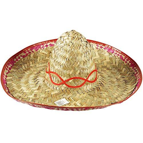 Sombrero Hat (paille, ruban de garniture) grande