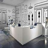 LYBH Papel tapiz mural 3D foto adhesiva fondo de mujer tienda de ropa de hombre simple 200x150 cm (ancho x alto) papel pintado de dibujos animados para niños arte pintura decoración hogar dormitorio