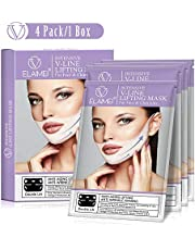Chin Up Patch, 4 Pack Face Lift Double Chin Reducer,V Line Mask for Face and Neck Lifting, Contour Tightening Firming, Moisturizing