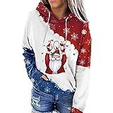 Rutaqian Sudadera con capucha para mujer, diseño de ciervos, sudadera con capucha para mujer, niña, color blanco, M5