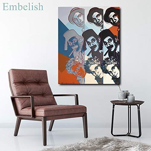 KWzEQ Imprimir en Lienzo Cartel de Personajes Coloridos y póster Moderno y decoración para Arte de pared80x105cmPintura sin Marco