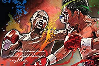 American Professional Boxing Champion Art Print Poster A True Champion Quote 24x36 inch