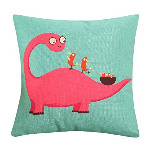 MF 45x45cm Cartoon Animal Dog Pattern Cushion Covers For Home Sofa Decor Children Room Decorative (Dinosaur)