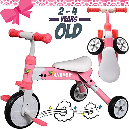 2 in 1 Tricycles for 3 Year Olds - 2-4 Years Old Baby Tricycle Perfect As Toddler Bike for 2 Year Old Toddler Or Birthday Gift, Safe Folding Trike for 2 Year Olds Ideal for Boy Girl