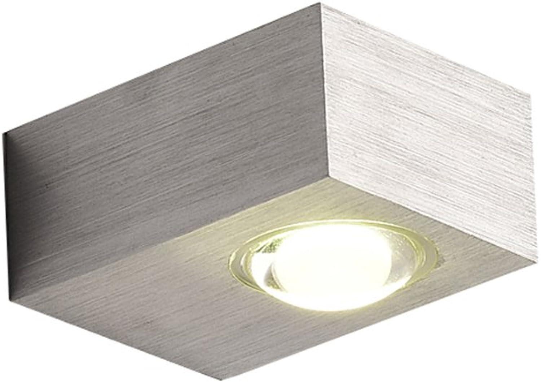 Add LED Wandleuchte Schlafzimmer Nachttisch Wohnzimmer Moderne minimalistische Treppe Korridor Gang Hintergrund Wand lang 8  breit 6  hoch 6cm