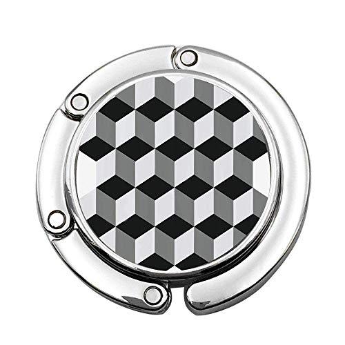 D Estilo geométrico Mosaico Arquitectura Tema Industrial Plegable Bolso de la Percha...