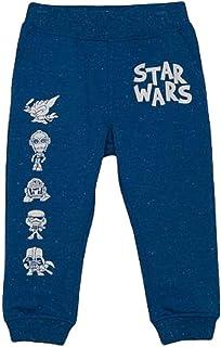EPC Infant Star Wars Jogger Sweat Pants Blue Speckle Fleece 5T