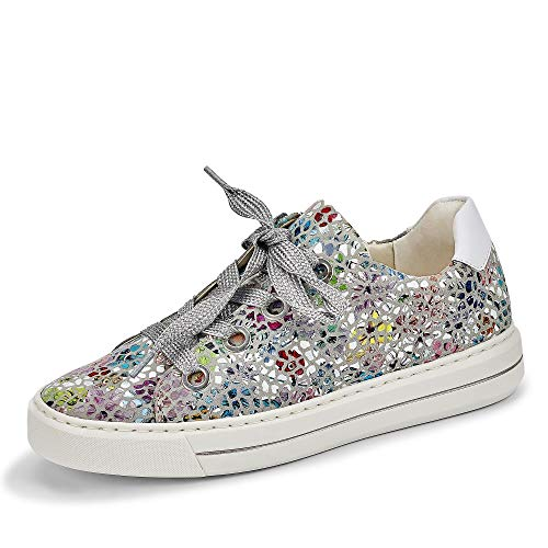ARA Women's Courtyard Sneaker, Grey Sasso White 06, 5.5 UK