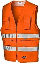 Arancia Milageto Hi Vis Safety Vest Gilet Cerniera Riflettente Jacket Security 2Colors